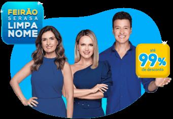 Rodrigo Faro, Eliana e Fátima Bernardes exibem descontos de até 99% no Feirão Limpa Nome 2020